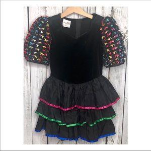 Vintage Ruffles & Bows Dress
